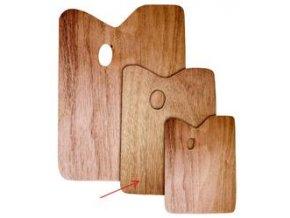 Obdélníková paleta, dřevěná - tl.5 mm (25 x 30 cm)