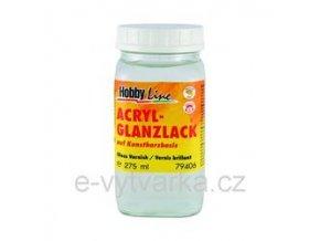 Akrylový lak na bázi syntetické pryskyřice Hobby Line (275 ml) - lesklý