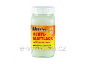 Akrylový lak na bázi syntetické pryskyřice Hobby Line (275 ml) - matný