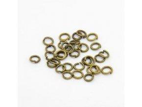 Spojovací kroužky pr.4 mm (100-1000ks) - staromosaz