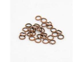Spojovací kroužky pr.4 mm (100-1000ks) - staroměď