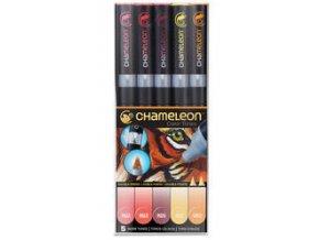 Fixy Chameleon sada 5ks teplé barvy 511
