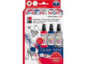 Textilní spray Marabu 3x100ml SPARKLING NIGHTS