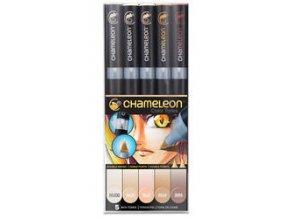 Fixy Chameleon sada 5ks pleťové barvy 510