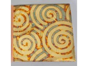 Tepané kovové plátky 5ks - zlatý vzor
