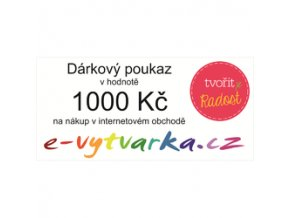 Dárkový poukaz 1000 KČ na nákup v e-shopu