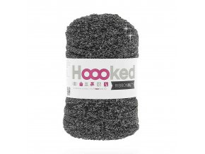 Hoooked RibbonXL - Lurex Black Sparkle Glitter (85 m)