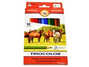 Sada trojhranných pastelek Koh-I-Noor Triocolor (12ks)