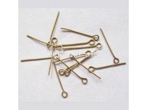 Ketlovací jehly 20 mm (50 - 1000ks) - staromosaz