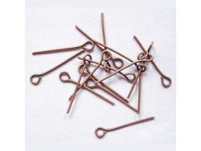 Ketlovací jehly 20 mm (50 - 1000ks) - staroměď