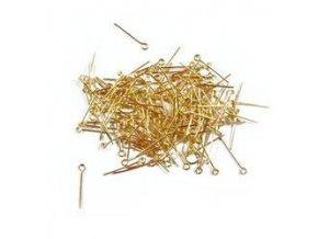 Ketlovací jehly 20 mm (50 - 1000ks) - zlato