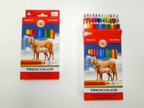 Sada trojhranných pastelek Koh-I-Noor Triocolor (24ks)