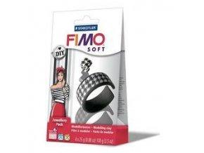 FIMO SOFT DIY sada - Šperková sada Černá a Bílá