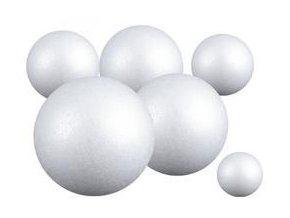 Polystyrenová koule plná, pr. 3 - 15 cm (velké balení)