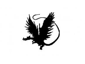 Enkaustické razítko - drak levý (50x49 mm)