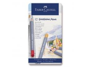 Akvarelové pastelky Faber-Castell Goldfaber Aqua 12ks