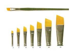 Syntetický štětec, vel.4 až 24 - plochý, zkosený