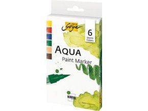 Sada vodových Aqua marker SOLO GOYA Teplé barvvy 6 barev