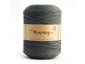 MINIMOP Macramé 2,5mm (500m) - DARK GREY