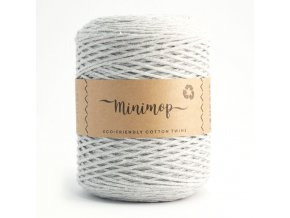 MINIMOP Macramé 2,5mm (500m) - LIGHT GREY  66