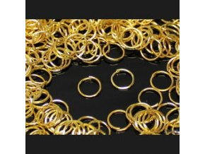 Spojovací kroužky pr.8 mm (50-1000ks) - zlato