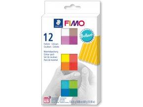 FIMO Soft sada 12 barev 25 g BRILLIANT