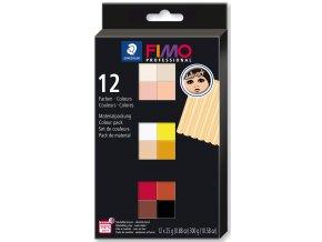 FIMO professional sada 12 barev 25 g DOLL ART