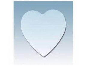 Plastové srdce ploché průhledné, 10 cm