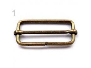 Posunovač na popruhy 18 x 38 mm (bal. 10 ks) - staromosaz