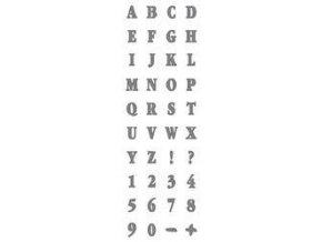 Samolepicí motivová šablona (13x40 cm) - Abeceda
