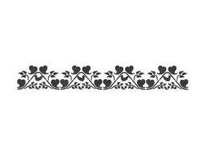 Samolepicí motivová šablona (11x70 cm) - Romantika