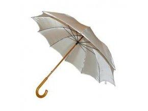 deštník holový polyester, dřevěná rukojeť