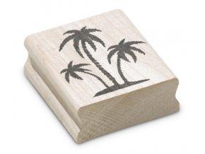 Enkaustické razítko - palmy (50x47 mm)