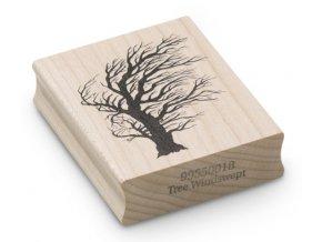 Enkaustické razítko - strom ve větru (65x50 mm)