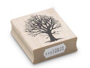 Enkaustické razítko - strom bez listí (49x42 mm)