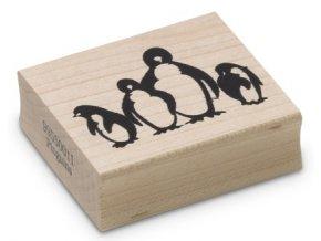 Enkaustické razítko - tučňáci (48x36 mm)