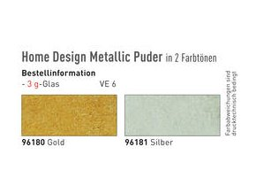Metalický prášek pro krakelování (3 g) - 2 odstíny