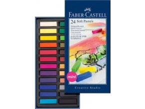 Měkké křídy Mini Faber-Castell 24 ks