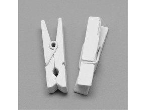 Dřevěné kolíčky bílé, 35 mm (50 ks)