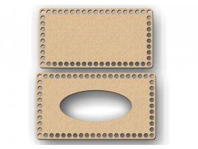 Polotovar krabička na kapesníky pro háčkování 10mm dírky - 3 rozměry