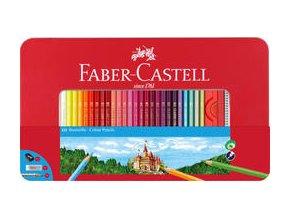 Pastelka šestihranná Faber-Castell, dárkový box 60ks