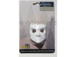 Odlitek Benátská maska č.3 Powertex, 4,5x6x6 cm
