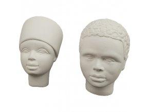 Odlitky African duo Powertex, 3 x 6 cm