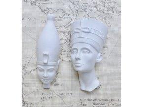 Odlitky Farao duo Powertex, 3 x 6 cm