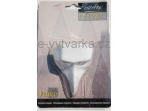 Odlitek Benátská maska č.4 Powertex, 4x6,5x8 cm