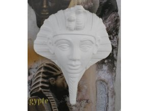 Odlitek Tutanchamon Powertex, 12 cm, poloviční