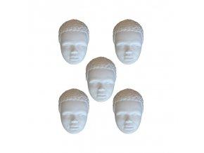 Odlitky African man Powertex, 3 x 4,5 cm
