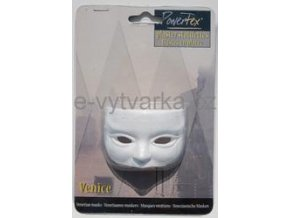 Odlitek Benátská maska č.1 Powertex, 3x4,5x7 cm
