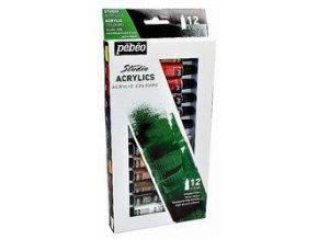 Set akrylových barev Pébeo Studio Acrylics Mass Market (12 ks)