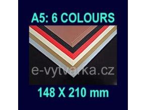 Papír na enkaustiku A5 - 6 různých barev (24 listů)